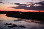 Sunset over the Pantanal