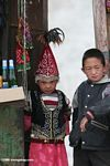 Chinese girl and boy working at a candy and soda stand along the Karakoram highway