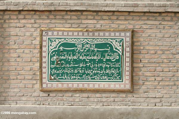 Inscription no Mosque de Altun em Yarkand