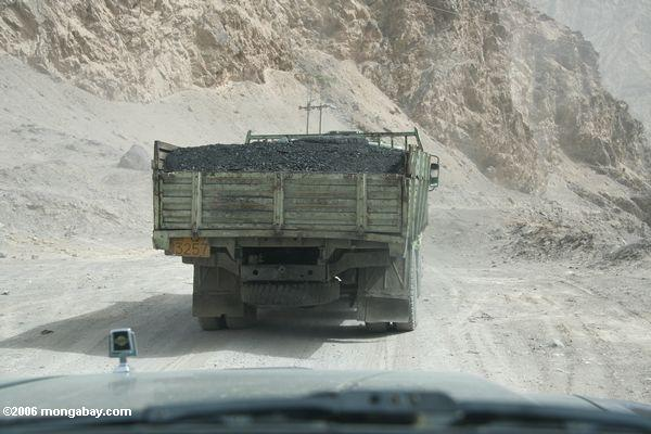 Coal truck in western China. Photo by: Rhett A. Butler.