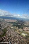 View of Bogota from airplane