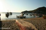 Boats on the beach at Taganga