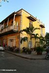 Yellow colonial-style house in old Cartagena