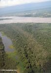 Aerial view of an Oxbow lake off the Amazon river
