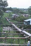 Raised walkways and houses of Leticia, Colombia