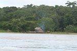 Wood home along the Amazon river