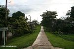 A main street in Puerto Nariño, an ecologically-sensitive city in the Amazon rainforest of Colombia