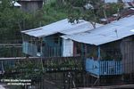 Raised homes in Leticia