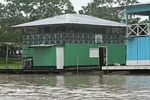 Floating homes along the Amazon near Leticia