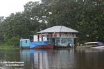 Amazon houseboat hotel in the Colombian rainforest