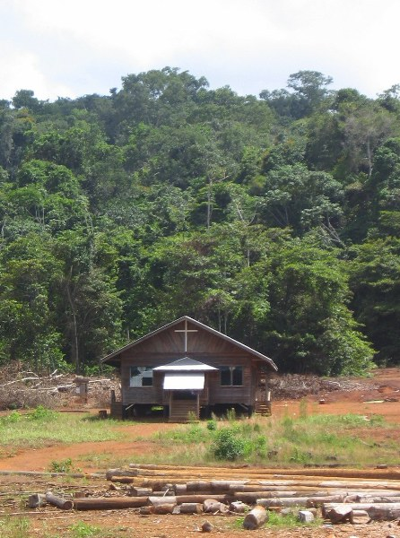 Church for loggers in Guyana. Photo by: Jeremy Hance.