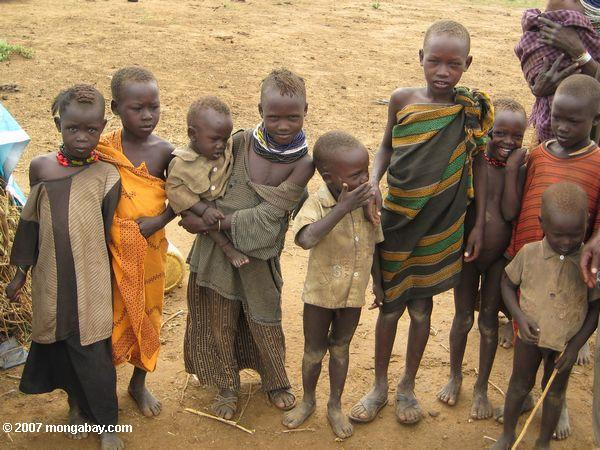 The Turkana tribe of northern Kenya are buffeted by constant drought and food insecurity, which recent research says may be worsening due to climate change. Photo by: Rhett A. Butler.