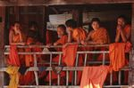 Monks in a Lao village