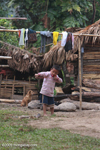 Hmong boy with slingshot