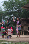 Pov pob, a traditional ball-tossing courtship ritual among the Hmong hill tribes