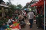 in the Luang Prabang morning market