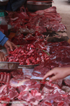 Meat section of in the Luang Prabang morning market