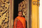 Young monk in Ban Houa Khong
