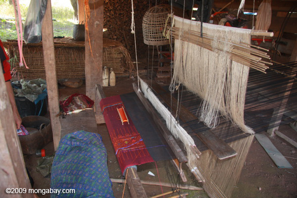 Weaving in Nam Gneane Cultural Village