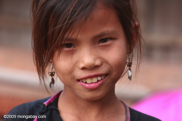 Lanten girl in Laos. Photo by: Rhett A. Butler.