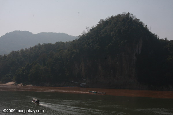 Pak Ou Cave, seen across the merging MeKong and Nam Ou
