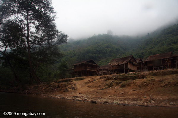 Village along the Nam Nern river