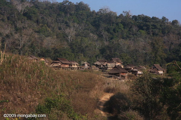 Village near Nam Et-Phou Louey National Protected Area in Lao PDR