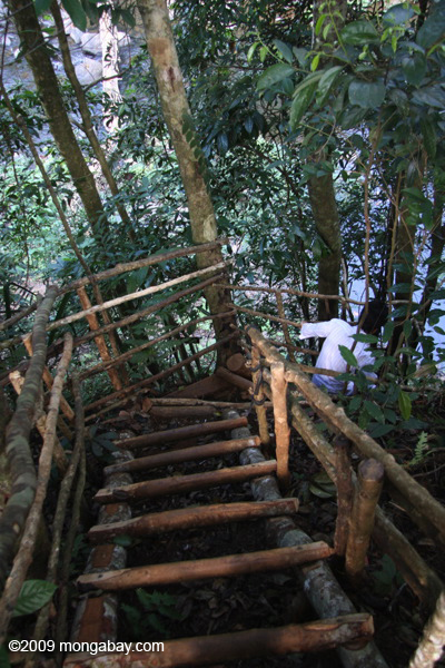 Stairs/ladder down to Tad Mone
