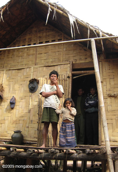 Villagers along the Nam Tha River