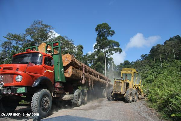 Logging truck in Malaysia. Photo by: Rhett A. Butler.