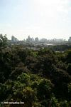 Panama city as seen from atop the rainforest canopy crane in Parque Natural Metropolitano (Metropolitan Natural Park)