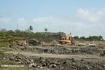 Mangrove landfilling in progress -- landfill often consists of Gatun formation; which is rich with fossils