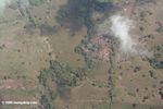 Forest clearing in Panama; aerial view