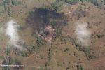 Forest clearing in Panama; as seen from above