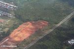 Forest clearing for housing; as seen from an airplane