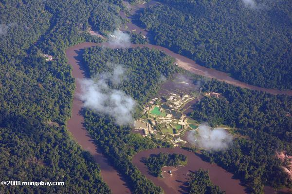 Aerial view of damage wrought by gold mining [suriname_1829]