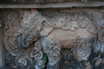 Stone carving of an elephant at Wat Phra That Pu Khao