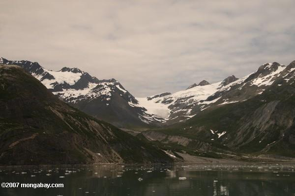 U-shaped valley carved by glacial ice near Johns Hopkins tidewater glacier