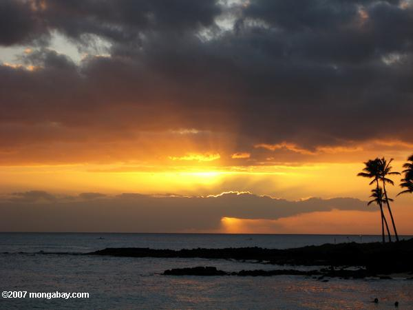 Sunset over Poipu Beach